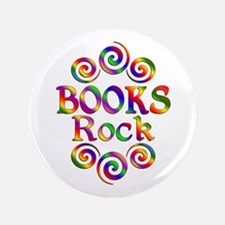 "Colorful Books Rock 3.5"" Button (100 pack)"