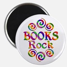 """Colorful Books Rock 2.25"""" Magnet (100 pack)"""