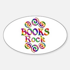 Colorful Books Rock Decal