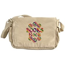 Colorful Books Rock Messenger Bag