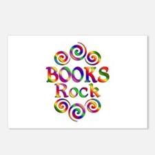 Colorful Books Rock Postcards (Package of 8)