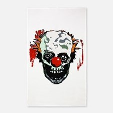Zombie clown Area Rug