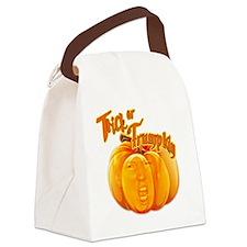 Funny Donald Trump Trick or Trump Canvas Lunch Bag