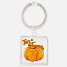 Funny Donald Trump Trick or Trumpk Square Keychain
