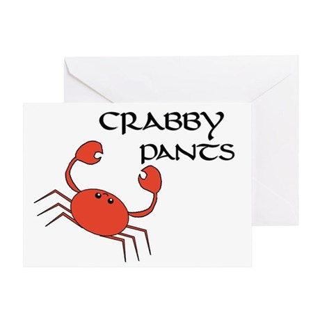 CRABBY PANTS Greeting Card