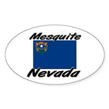 Mesquite Nevada Oval Decal