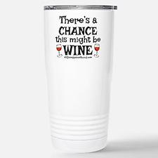 MIGHT BE WINE Travel Mug