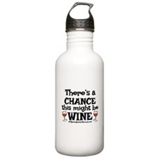 MIGHT BE WINE Water Bottle