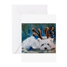 Cute Westie christmas Greeting Cards (Pk of 20)