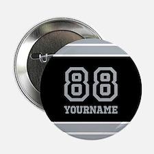"""Black and Silver Gray Stripes Persona 2.25"""" Button"""