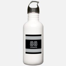 Black and Silver Gray Water Bottle