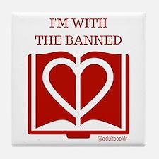 Funny Book banning Tile Coaster