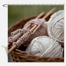 Organic Yarn Shower Curtain
