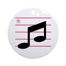 Eighth Notes Ornament (Round)