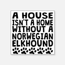 Without A Norwegian Elkhound Sticker
