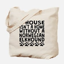 Without A Norwegian Elkhound Tote Bag