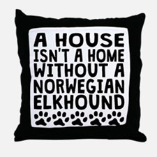 Without A Norwegian Elkhound Throw Pillow