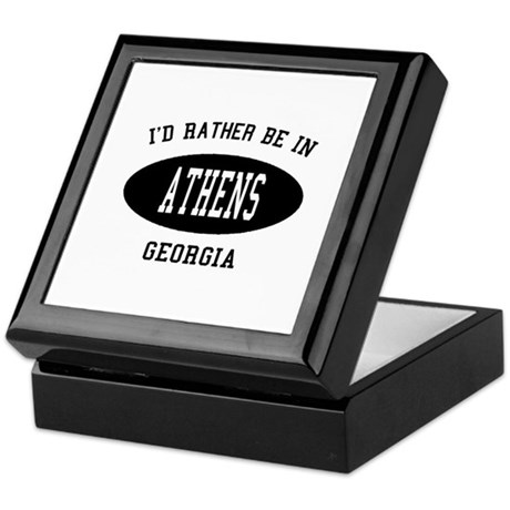 I'd Rather Be in Athens, Geor Keepsake Box