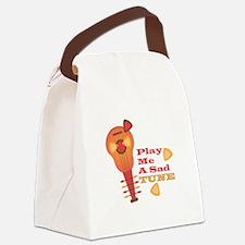Play Sad Tune Canvas Lunch Bag