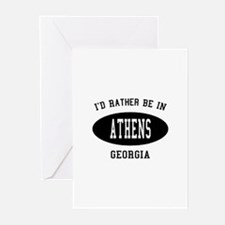 I'd Rather Be in Athens, Geor Greeting Cards (Pk o