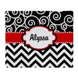 Red chevron Fleece Blankets