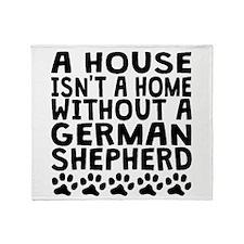 Without A German Shepherd Throw Blanket