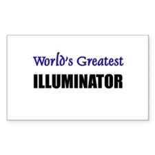 Worlds Greatest ILLUMINATOR Rectangle Decal