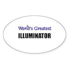 Worlds Greatest ILLUMINATOR Oval Decal