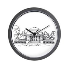 Rotunda Ink Sketch Wall Clock