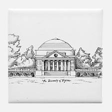 Rotunda Ink Sketch Tile Coaster