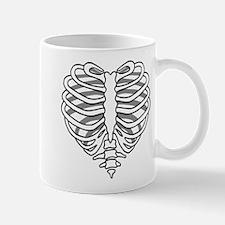 Skeleton rib cage heart Mugs