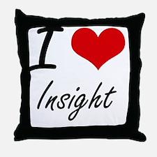 I Love Insight Throw Pillow