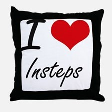 I Love Insteps Throw Pillow