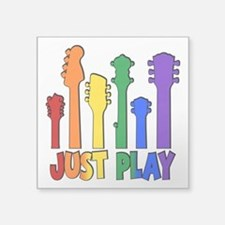 "JUST PLAY Square Sticker 3"" x 3"""