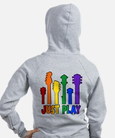 JUST PLAY (both sides) Zip Hoodie