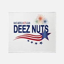 Make America Nuts Again Throw Blanket