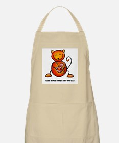 keep your hands off my cat BBQ Apron