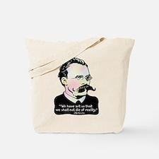 Nietzsche - Art v. Reality Tote Bag