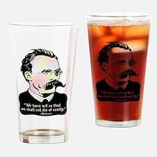 Nietzsche - Art v. Reality Drinking Glass