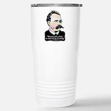 Nietzsche - Art v. Real Stainless Steel Travel Mug