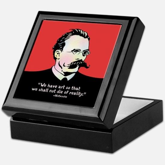 Nietzsche - Art v. Reality Keepsake Box