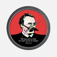 Nietzsche - Art v. Reality Wall Clock