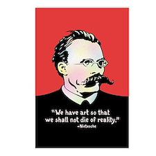 Nietzsche - Art v. Realit Postcards (Package of 8)