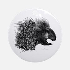 Crested Porcupine Ornament (Round)