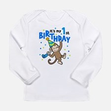 Cute 1st birthday boy Long Sleeve Infant T-Shirt