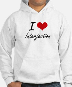 I Love Interjection Hoodie