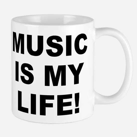 Music Is My Life! Small White Mug Mugs