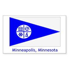 Minneapolis MN Flag Rectangle Decal