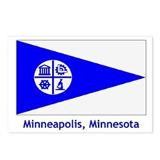 Minneapolis MN Flag Postcards (Package of 8)