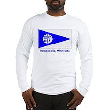 Minneapolis MN Flag Long Sleeve T-Shirt